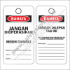 SAFETY TAG MESIN DIKUNCI