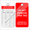 SAFETY TAG FIRE EXTINGUISHER INSPECTION RECORD