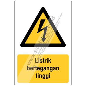 Rambu K3 Bahaya Listrik