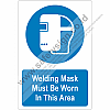 Safety Sign MANDATORY Welding Mask Must Be Worn In This Area